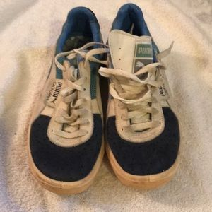 65f87bb2f73b Puma Shoes   Vintage Baby Blue California   Poshmark
